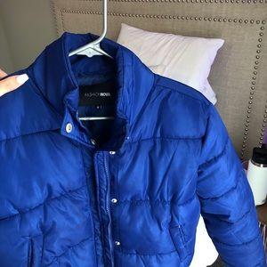 Royal blue puffer jacket
